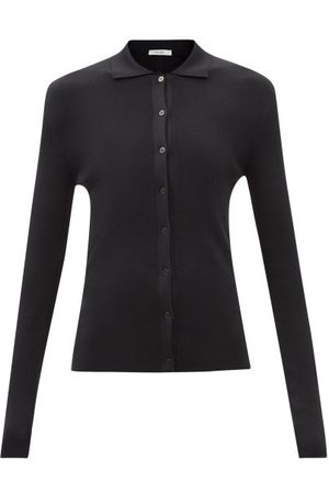 The Row Dryan Buttoned Silk-knit Sweater