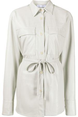 Proenza Schouler White Label Hemd aus Faux-Leder
