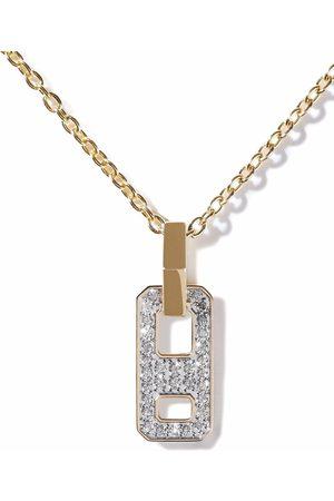 AS29 Damen Halsketten - 18kt Gelbgoldhalskette mit Diamanten