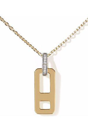 AS29 18kt Gelbgoldhalskette mit Diamanten