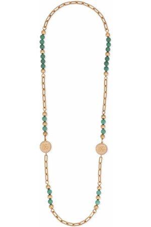 Dolce & Gabbana Perlenkette mit Logo