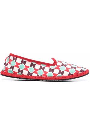 Vibi Venezia Damen Halbschuhe - Loafer mit Mosaik-Print