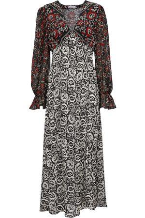 RIXO Bedrucktes Kleid Aoife aus Seide
