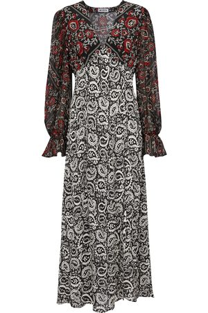 RIXO London Bedrucktes Kleid Aoife aus Seide