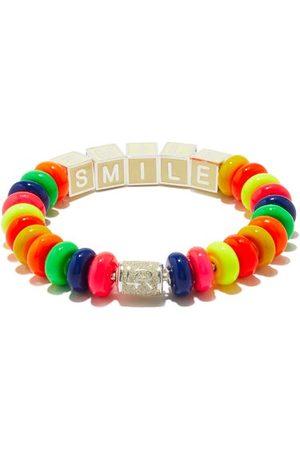 Lauren Rubinski Smile Enamel & Sterling-silver Beaded Bracelet