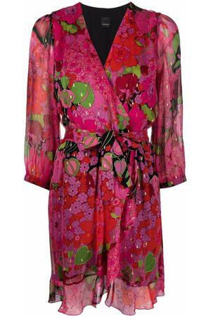 Pinko Wickelkleid mit Blumen-Print