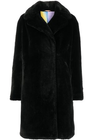 Apparis Doppelreihiger Mantel aus Faux Fur