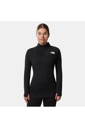 The North Face Damen Dot Fleece-baselayer Mit 1/2-reissverschluss Tnf Black Größe L Damen