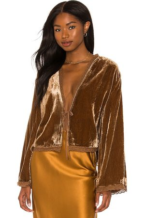 Free People Velvet Bed Jacket in . Size S, XS.