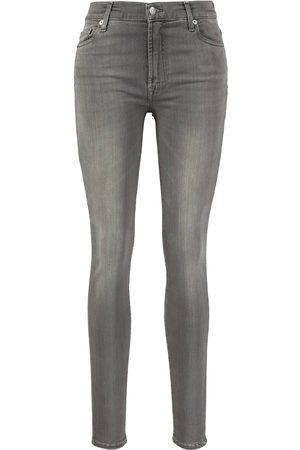 7 for all Mankind Damen Cropped - Skinny Fit Jeans 'Illusion Luxe Bliss