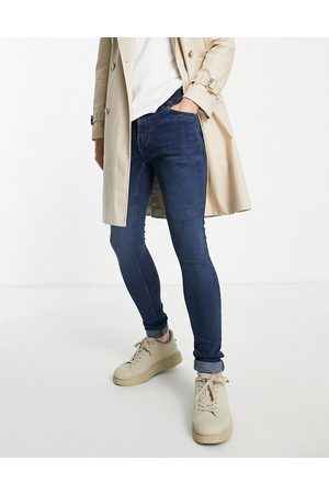 French Connection – Superenge Jeans mit Stretch in Dunkelblau