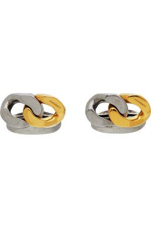 Burberry Herren Manschettenknöpfe - Gold & Silver Curb Chain Cufflinks