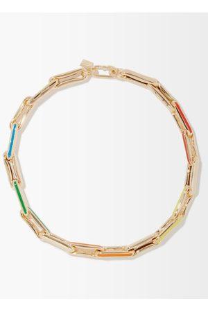 Lauren Rubinski Enamel & 14kt Link-chain Necklace