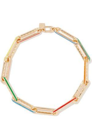 Lauren Rubinski Damen Halsketten - Diamond, Enamel & 14kt Link-chain Necklace