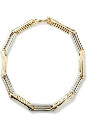 Lauren Rubinski Damen Halsketten - 14kt White & Yellow- Chain-link Necklace