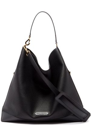 Tom Ford Logo-patch Grained-leather Tote