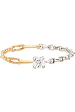 YVONNE LÉON Gold & White Diamond Solitaire Ring