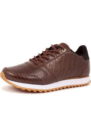 Woden Damen Sneakers - Sneakers Ydun Croco Shiny in hellbraun, Sneaker für Damen