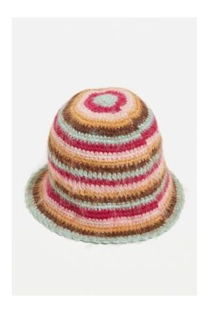 Urban Outfitters UO Fluffy Stripe Knitted Bucket Hat