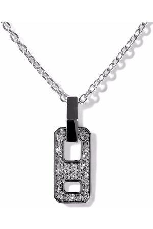 AS29 18kt Schwarzgoldhalskette mit Diamanten
