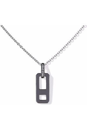 AS29 Damen Halsketten - 18kt Schwarzgoldhalskette mit Diamanten