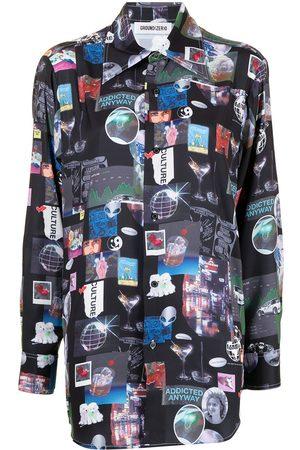 Ground Zero Damen Blusen - Hemd mit grafischem Print
