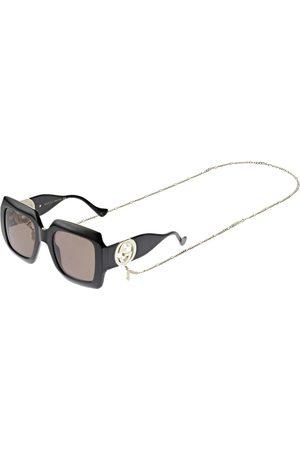 "Gucci Eckige Sonnenbrille Mit Kette """""