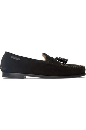 Tom Ford Black Suede & Shearling Berwick Loafers