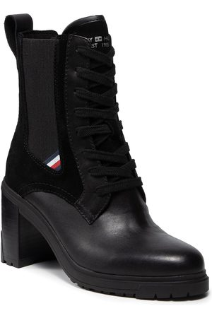 Tommy Hilfiger Th Outdoor Heel Lace Up Boot FW0FW05942 Black BDS