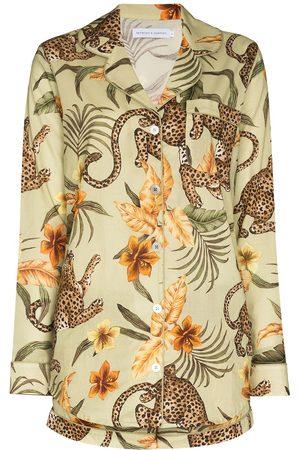 Desmond & Dempsey Soleia Pyjama mit Leoparden-Print