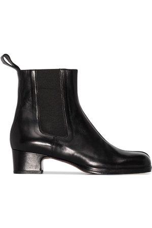 MANU Damen Stiefeletten - Chelsea-Boots mit eckiger Kappe 40mm