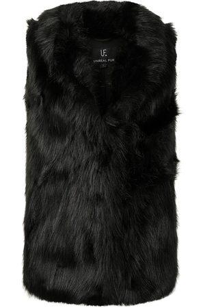 Unreal Fur Damen Westen - Rose Premium Faux-Fur-Weste