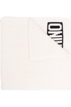 Moschino Gerippter Schal mit Logo