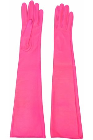 Manokhi Lange Handschuhe aus Leder