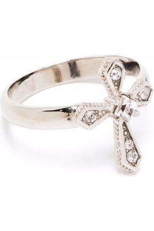 Dolce & Gabbana Ring mit kristallverziertem Kreuz