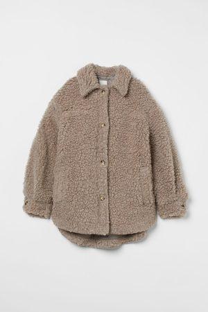 H&M Blusenjacke aus Lammfellimitat