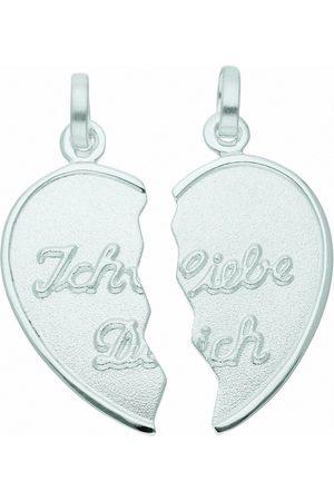 Adelia's Kette mit Anhänger »925 Anhänger Partneranhänger - Set mit Halskette«, 925 Sterling Silberschmuck für Damen