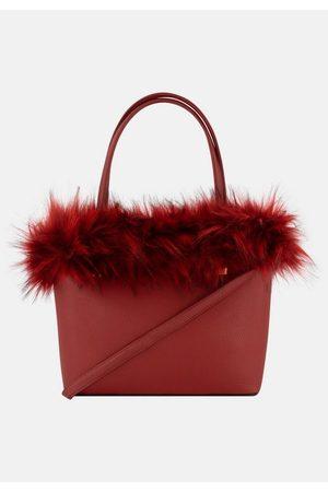 er piu Damen Handtaschen - Henkeltasche, mit wildem Kunstfell