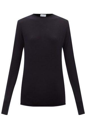 Raey Raw-trim Merino Wool Crew-neck Sweater