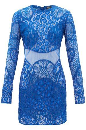 Tom Ford Leopard Chantilly-lace Mini Dress