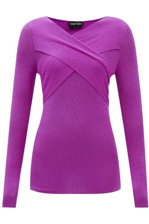 Tom Ford Crossover-neck Ribbed Cashmere-blend Sweater