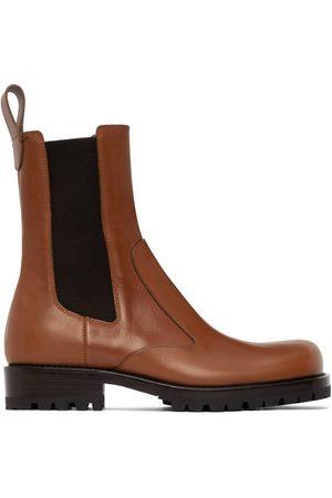 DRIES VAN NOTEN Herren Chelsea Boots - Tan Leather Chelsea Boots