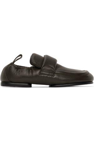 DRIES VAN NOTEN Herren Halbschuhe - Green Leather Padded Loafers