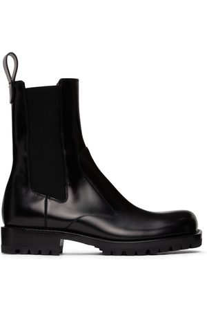 DRIES VAN NOTEN Herren Chelsea Boots - Black Polished Leather Chelsea Boots