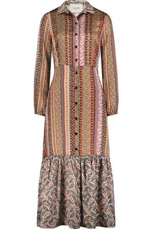 Nicowa Extravagantes Hemdblusenkleid mit Ethnoprint - WALOWA