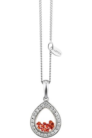 ASTRA Damen Halsketten - Kette mit Anhänger MOTHER EARTH Necklace Frame with Stones