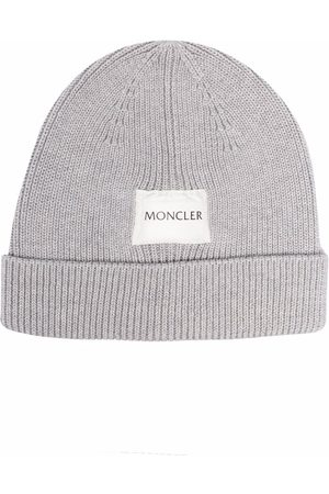 Moncler Mütze mit Logo-Patch