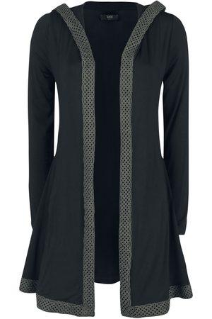 Black Premium by EMP Cardigan mit Kapuze und Knoten-Borte Cardigan