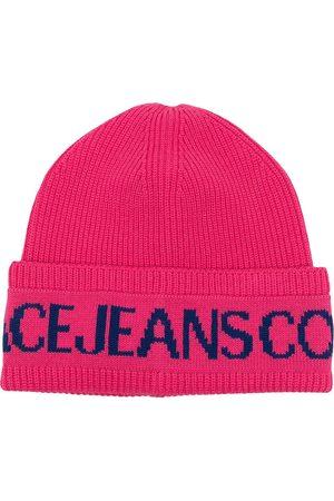 VERSACE Intarsien-Mütze mit Logo