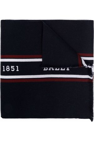 Bally Logo-print wool scarf